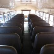 Amerikaanse schoolbus vanbinnen